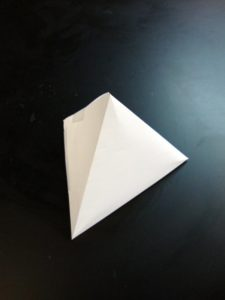 paper pyramid -- side
