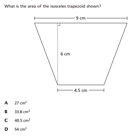 6th grade trapezoid question