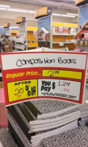 composition books 74 cents