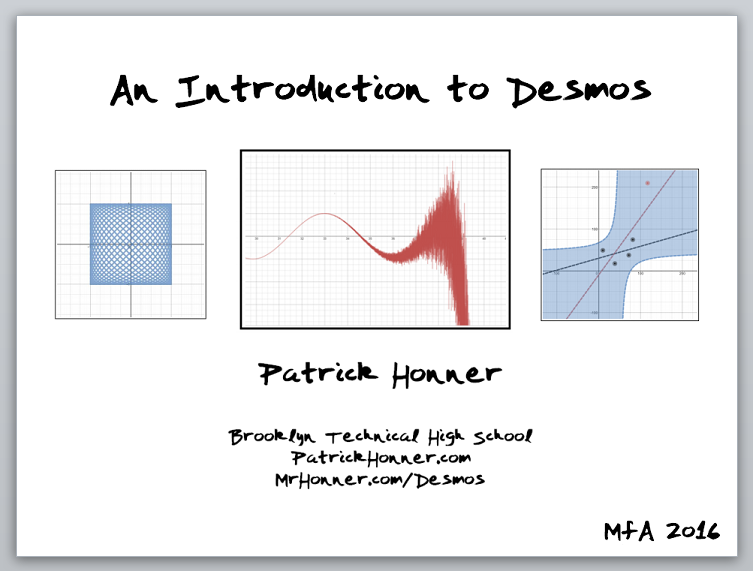 An Introduction to Desmos