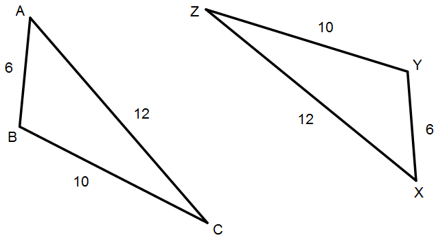Congruent Triangles -- labeled